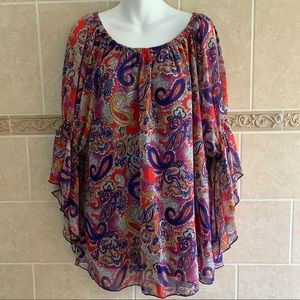 New Directions Plus Paisley top